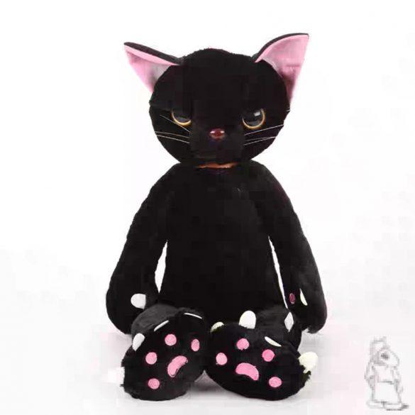 fekete,fehér álló cica