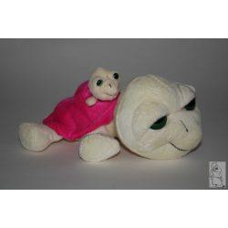 Bébis teknős  pink fehér